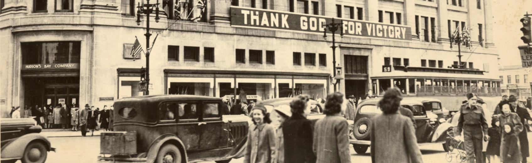 University of Winnipeg Archives. Thank God for Victory, 1945 (URC 10-28).